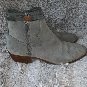 Gray Suede Coach Dani Ankle Boot
